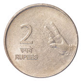 Two Indian Rupee coin — 图库照片