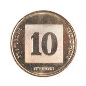 Ten Israeli New Sheqel Cents — Stok fotoğraf