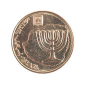 Ten Israeli New Sheqel cents — Stock Photo