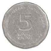 5 Israeli New Sheqel coin — Stock Photo