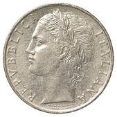 100 italian lira coin — Stock Photo