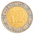 2 Mexican peso coin - Stock Photo