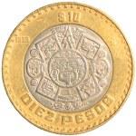 Ten mexican peso coin — Stock Photo #23859799