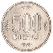 500 japanese yens coin — Stock Photo