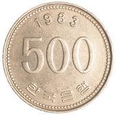 монета 500 wons южной кореи — Стоковое фото