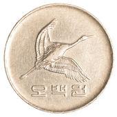 500 jihokorejský wons mince — Stock fotografie