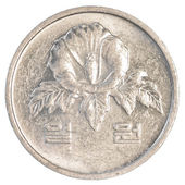 1 south korean won coin — 图库照片