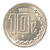 10 mexican peso cents coin — Stock Photo