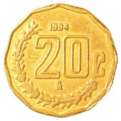 20 mexican peso cents coin — 图库照片