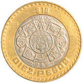Ten mexican peso coin — Stock Photo
