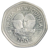 Padesát papua new guinejskou toea mince — Stock fotografie