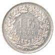 Stock Photo: 1 Swiss Francs coin