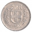 Stock Photo: 5 Swiss Francs coin