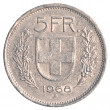 5 Swiss Francs coin — Stock Photo