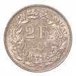 Stock Photo: 2 Swiss Francs coin