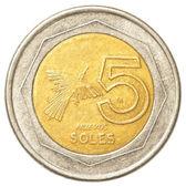 5 Peruvian nuevo sol coin — Stock Photo
