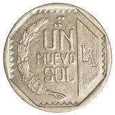 1 peruánský sol mince — Stock fotografie