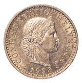 Swiss Rappen coin — Stock Photo