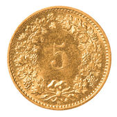 5 Swiss Rappen coin — Stock Photo