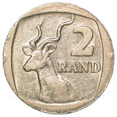 2 south african rands coin — Stock Photo