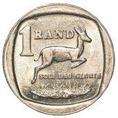 одна монета южноафриканский рэнд — Стоковое фото