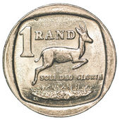 One south african rand coin — Stock Photo