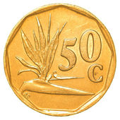 50 south african rand cents coin — Stock Photo