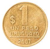 One Uruguayan peso coin — Stock Photo