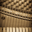 Stock Photo: Vintage piano keys