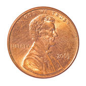 American one Cent coin — Foto Stock