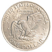 American one dollar coin — 图库照片