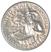 American one quarter coin — 图库照片