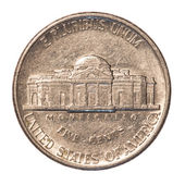 American five cents coin — Stock Photo