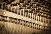Vintage piano keys — Stock Photo