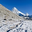 Stock Photo: Mountain scenery at Everest region
