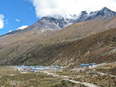 Mountain village at the Everest region — Стоковое фото