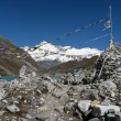 View of cho oyu - nepal — Stock Photo