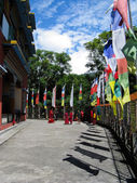 Buddhist temple in Pokhara, Nepal — Stock Photo
