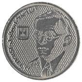 100 izraelské staré sheqels mince - zeev žabotinský — Stock fotografie