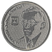 100 Israeli old Sheqels coin - Zeev Jabotinsky — Стоковое фото