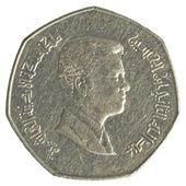 Moneta di dinar jordanian trimestre — Foto Stock
