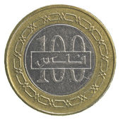 100 Bahraini dinar coin — Stock Photo