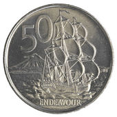 50 New Zealand cents coin — Stock Photo