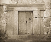 Massive stone door — Stock Photo