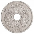 Danish krone coin — Stock Photo