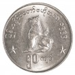 50 Burmese (myanmar) kyat coin — Stock Photo