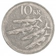 10 icelandic krona coin — Stock Photo