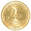 25 Philippine sentimo coin — Foto de Stock