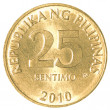 25 Philippine sentimo coin — Foto Stock