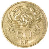 50 icelandic krona coin — Stock Photo